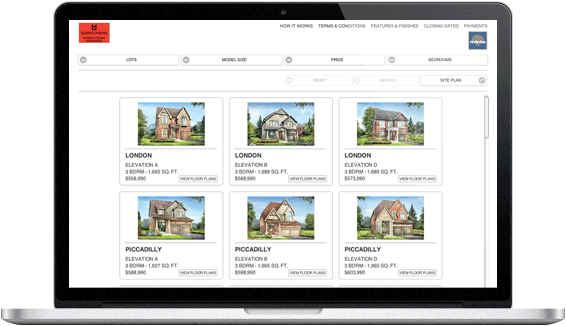 Macbook Pro displaying Home Buyers software